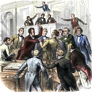 US Congressmen fighting over an issue, early 1800s