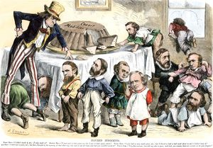 Credit Mobilier cartoon during the Grant Administration, 1873