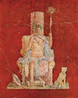 Dionysus, or Bacchus, on his throne