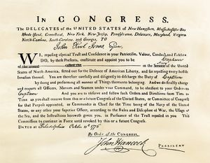 Document commissioning John Paul Jones as a US Navy captain