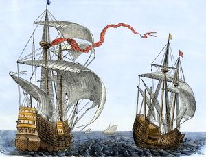 Dutch galleons, 1600s