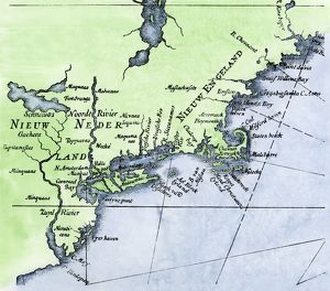 Dutch map of New Netherland and New England