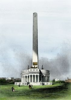 Early design for the Washington Monument, 1860s