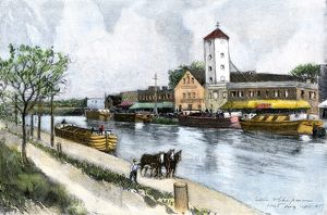Erie Canal barge at Troy, New York