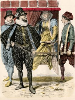 Fashions of Naples, 16th century