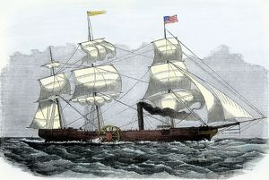 First Atlantic crossing by steamship, 1819