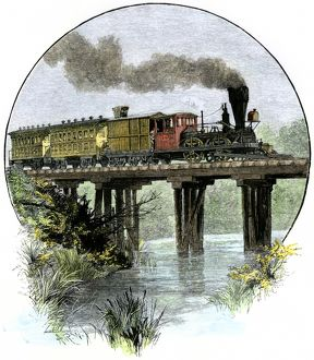 First train on the Camden & Amboy Railroad