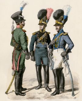 French police officers, early 1800s