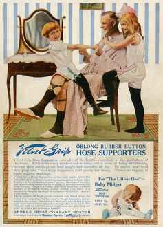 Garter advertisement, early 1900s