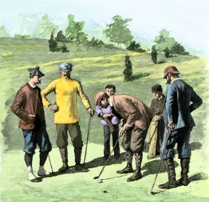 Golfers in the 1890s