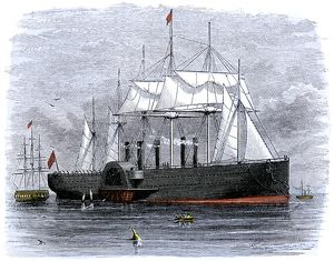 'Great Eastern' laying transatlantic telegraph cable
