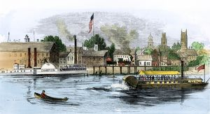 Hartford on the Connecticut River, 1850s