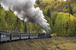 Historic steam railroad in the Rockies