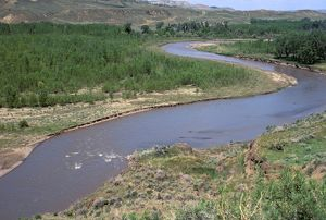 Judith River near its junction with the Missouri River, Montana