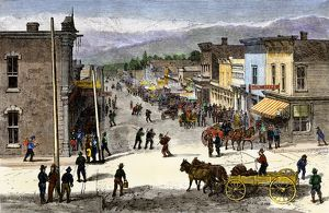 Leadville, a Colorado boom town, 1870s