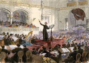 Liszt conducting in Budapest