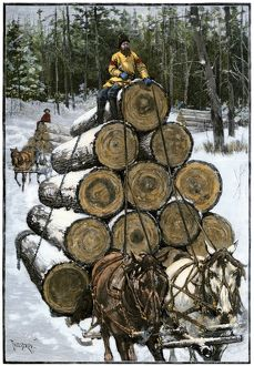 Logging in Wisconsin, 1800s
