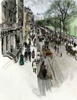 London street in the 1880s