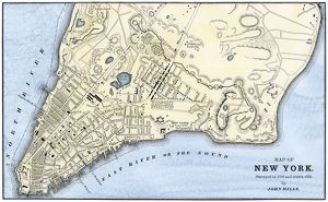 Manhattan map, 1780s