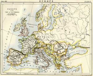 Map of Europe under the Roman Empire