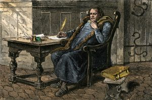 Martin Luther writing