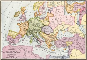 Medieval Europe at the start of the Crusades