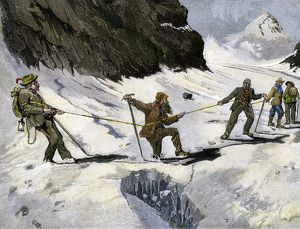Mountaineering in the Alps, 1800s