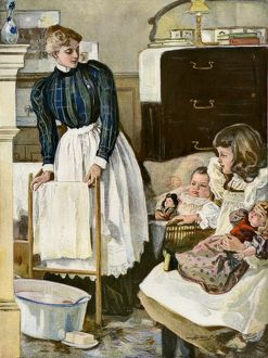 Nursery in a well-to-do home, early 1900s