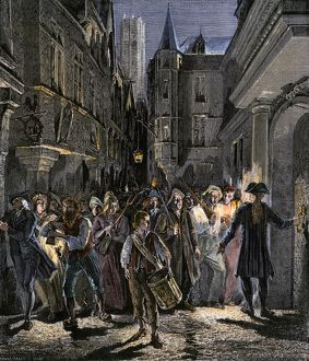 Paris streets under mob rule during the French Revolution