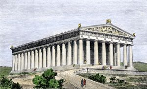 Parthenon in ancient Athens