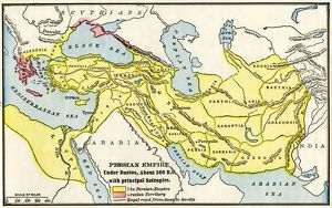 Persian Empire about 500 BC