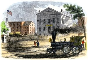 Railroad in Syracuse, New York, 1850s