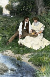Rural courtship, early 1900s