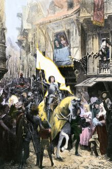 Sacred banner carried by Joan of Arc into Orleans
