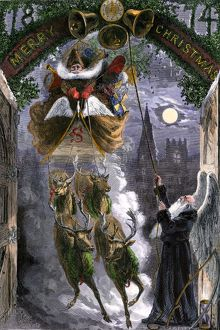 Santa Claus and Father Time, 1874