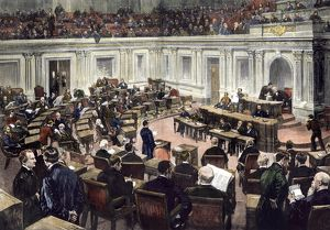 US Senate in session, late 1800s