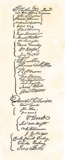Signatures of leaders of the Constitutional Convention, 1787