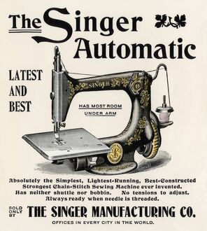 Singer sewing machine ad, 1890s
