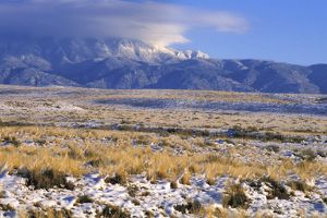 Snow on the Sandia Mountains, New Mexico