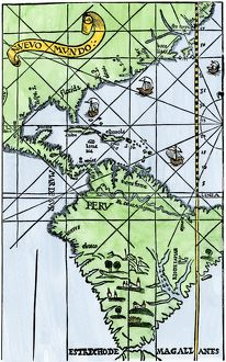South America mapped after Magellan's voyage, 1519