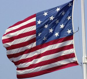 Star-spangled banner, the 15-star US flag
