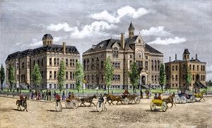 State capitol in Boise, Idaho, late 1800s