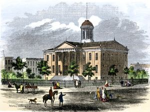 State capitol in Springfield, Illinois, 1850s