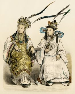 Stylish Chinese women, 1800s