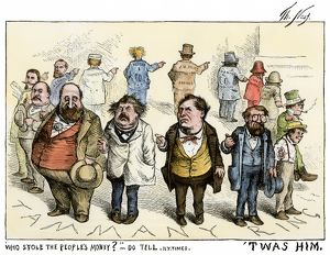 Thomas Nast cartoon about Boss Tweed corruption