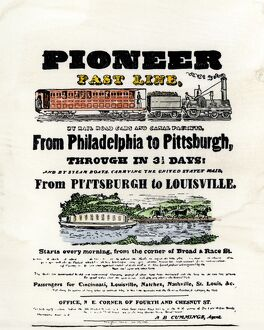 Travel by railroad and canal, 1837