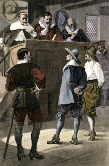 Trial of a Quaker in England