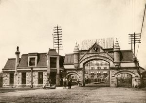 Union Stockyards entrance, Chicago, 1890s