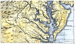 Virginia and Maryland settled in 1738