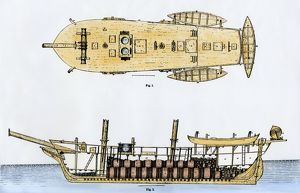 Whaling ship diagram, 1800s
